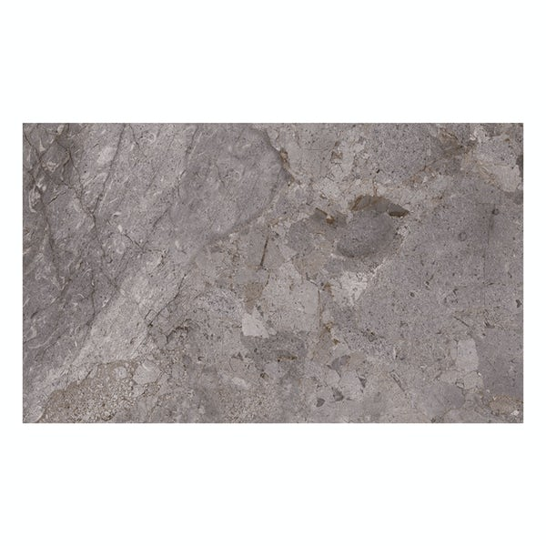 British Ceramic Tile Flint HD grey gloss wall tile 248mm x 498mm