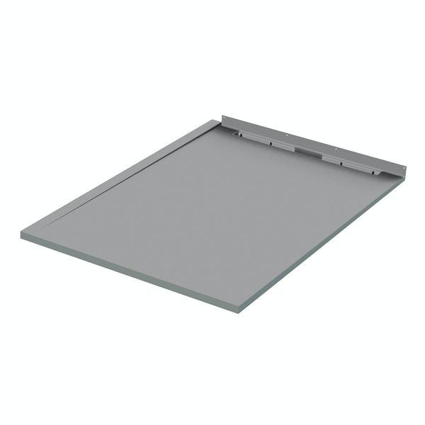 Mode single fall right handed wet room shower tray former and installation kit