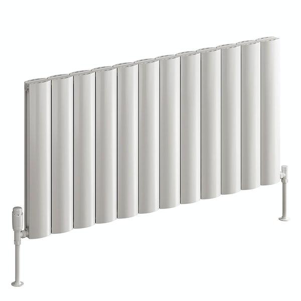 Reina Belva white double horizontal aluminium designer radiator