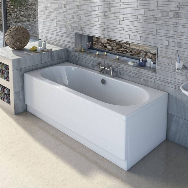 Orchard round edge double ended bath 1700 x 700 with acrylic front panel