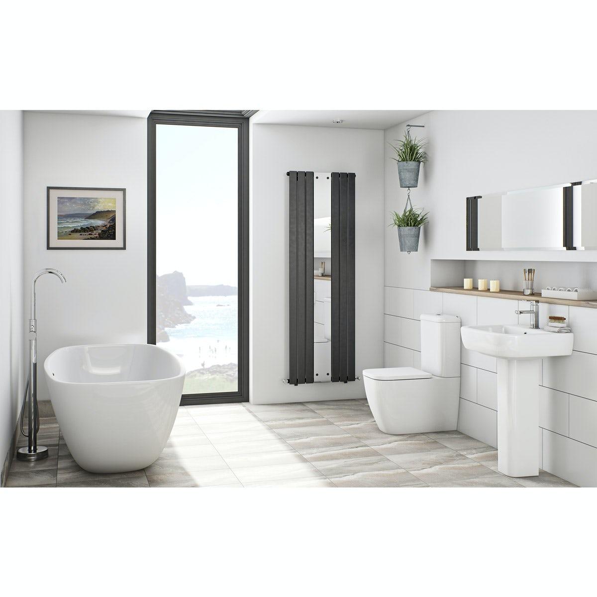 Mode Ellis Bathroom Suite With Freestanding Bath Victoriaplum Com