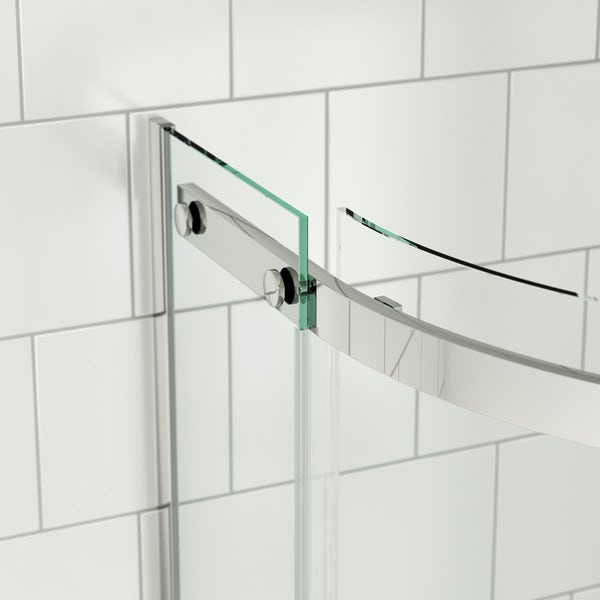 Mode Harrison 8mm easy clean quadrant shower enclosure with stone tray