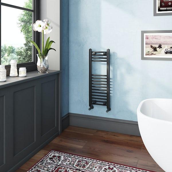 The Heating Co. Phoenix anthracite grey heated towel rail