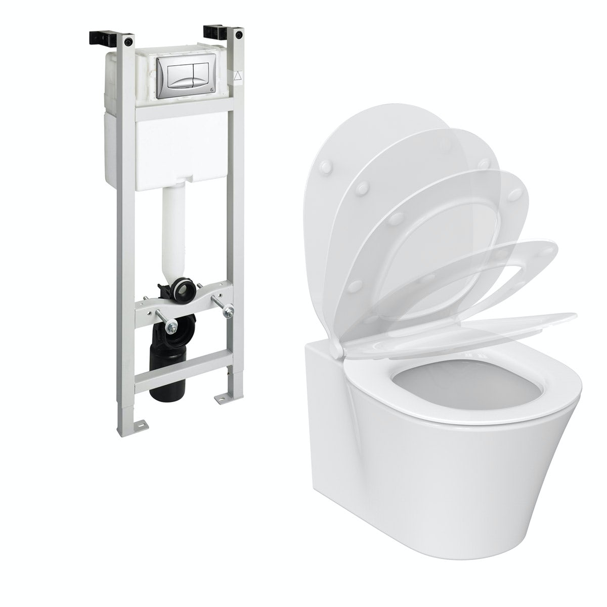 Ideal Standard Concept Air wall hung toilet with soft close toilet ...