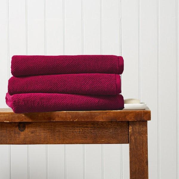Christy Brixton magenta bath sheet