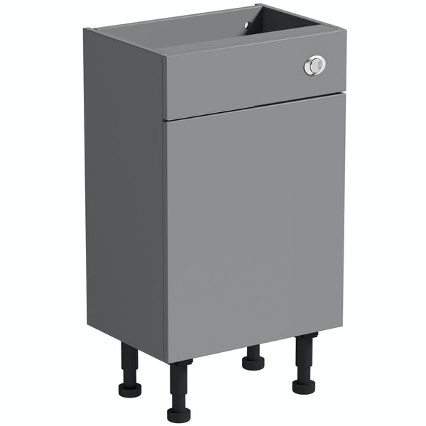 Reeves Wyatt onyx grey back to wall toilet unit