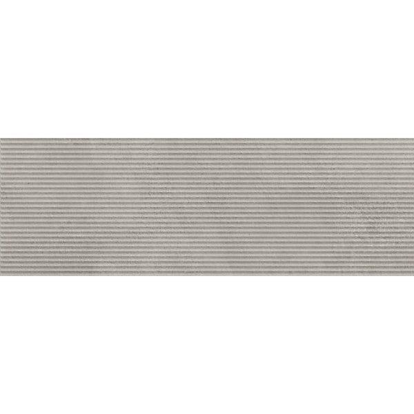 Chard concrete grey textured stone effect matt wall tile 250mm x 750mm