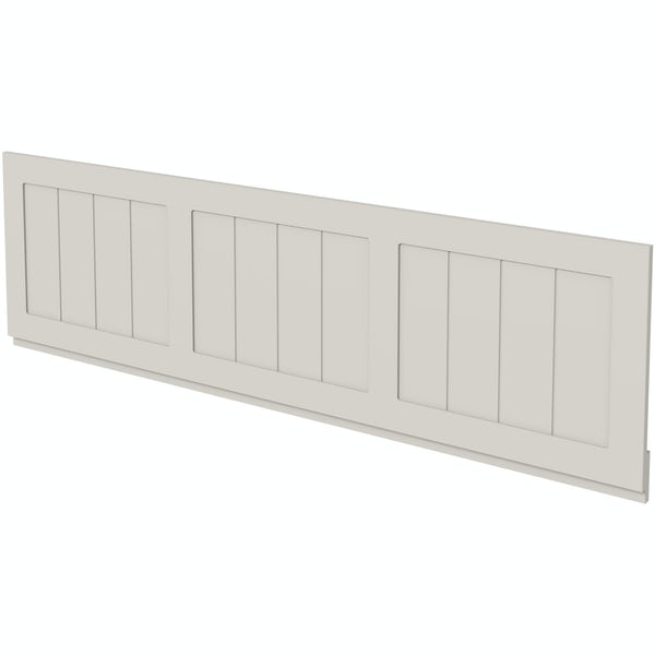 The Bath Co. Dulwich stone ivory wooden bath panel pack