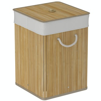 Accents Natural bamboo square laundry basket