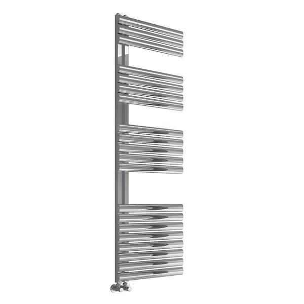 Reina Scalo brushed stainless steel designer towel rail