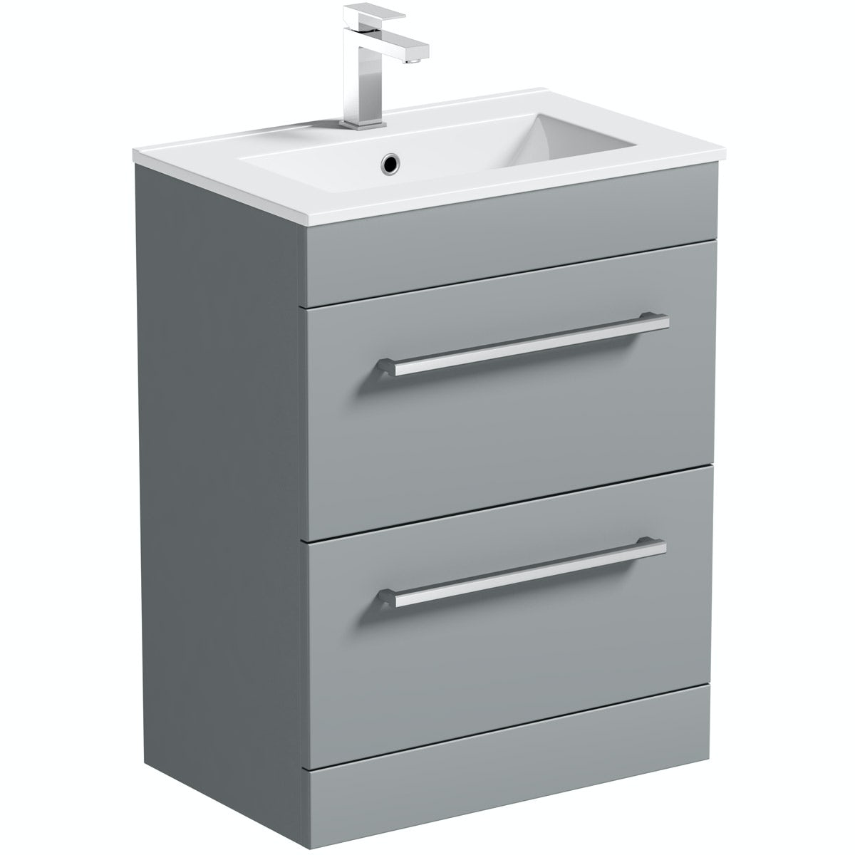 Orchard Derwent grey vanity drawer unit and basin 600mm