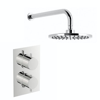 Mode Harrison thermostatic mixer shower with wall shower head