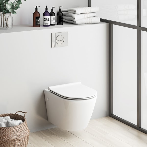 Mode Harrison Wall Hung Toilet Inc Slimline Soft Close