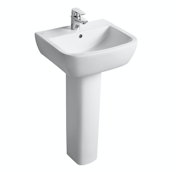 Ideal Standard Tempo 1 tap hole full pedestal basin 500mm