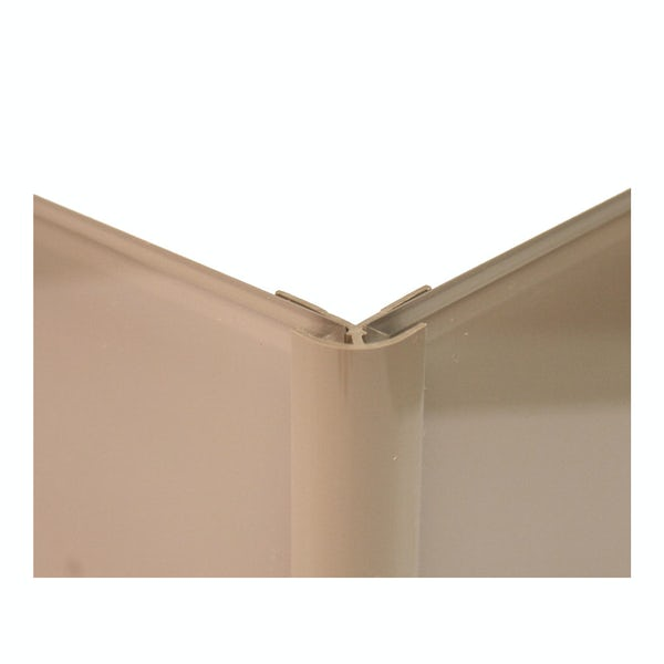 Zenolite plus matt fossil color matched external corner joint 250mm