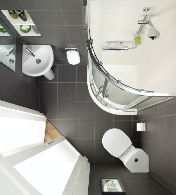 Ideal Standard Concept Space 1 tap hole full pedestal corner bathroom basin 450mm