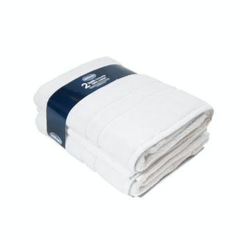 Silentnight set of 2 white bath towel