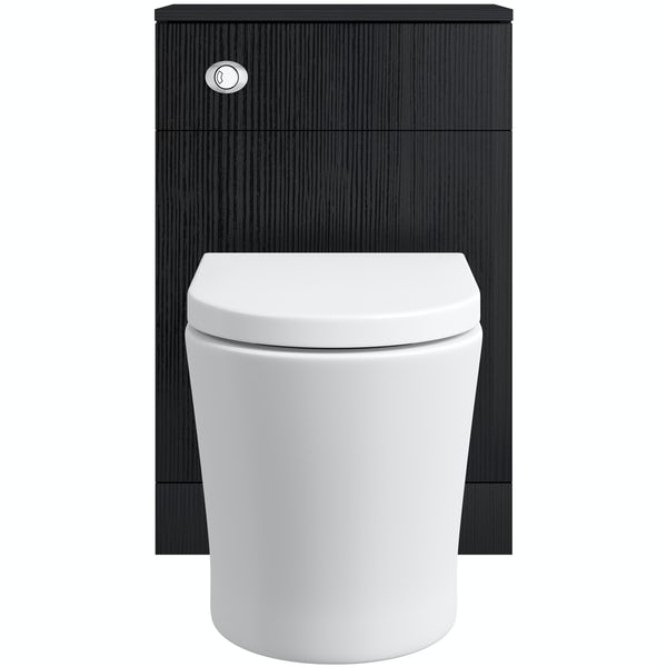 Orchard Wye essen back to wall toilet unit with contemporary toilet and seat