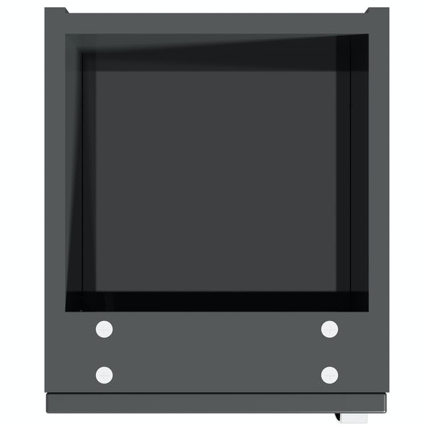 Mode Nouvel gloss grey floor cabinet 300mm