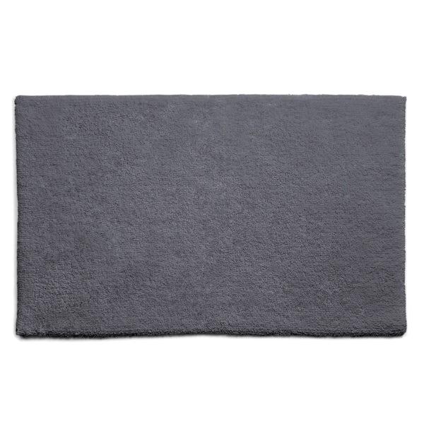 Hug Rug luxury bamboo plain graphite bathroom mat 50 x 80cm