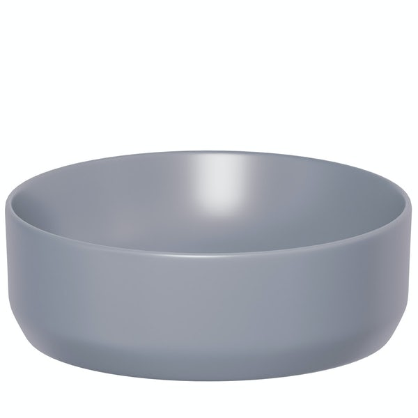 Love Bomb Lilac Grey countertop basin 355mm with waste