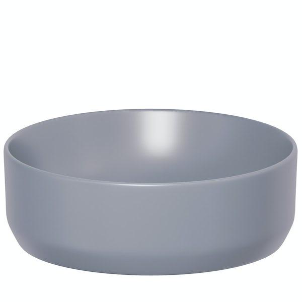 Mode Orion lilac grey coloured countertop basin 355mm