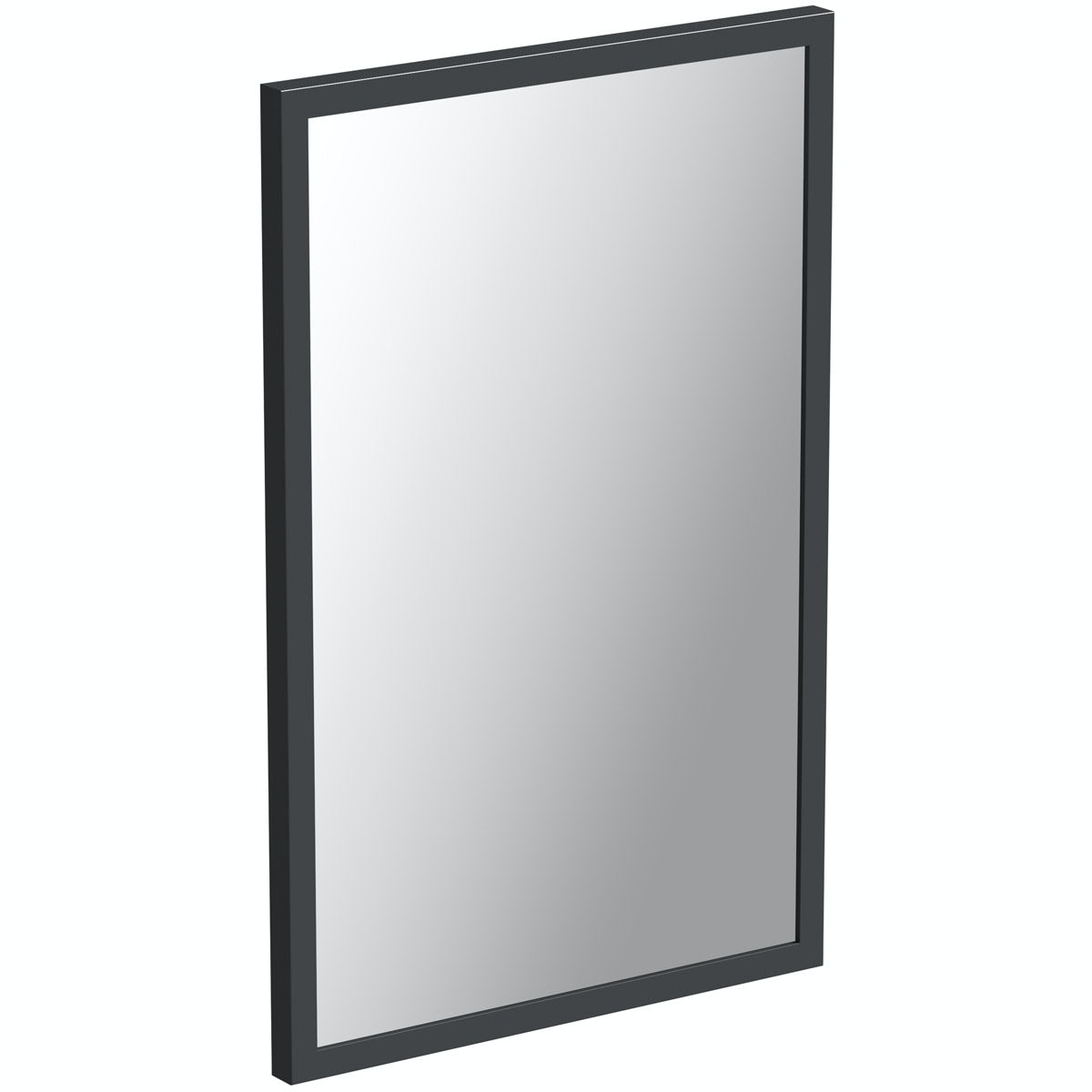 Mode Hale grey gloss bathroom mirror 850 x 550mm