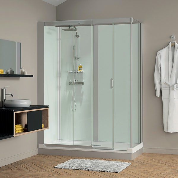 Kinemagic Design easy install bath replacement corner shower cabin