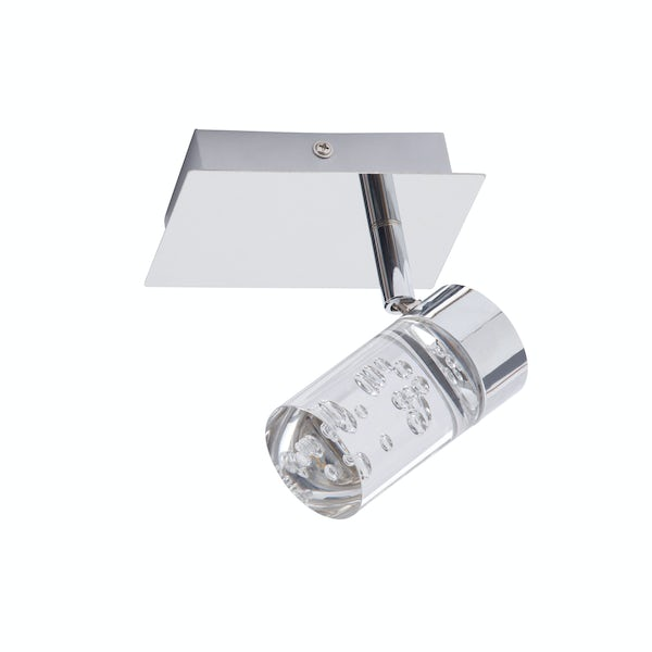 Forum Apollo bubble effect 1 light bathroom ceiling spotlight