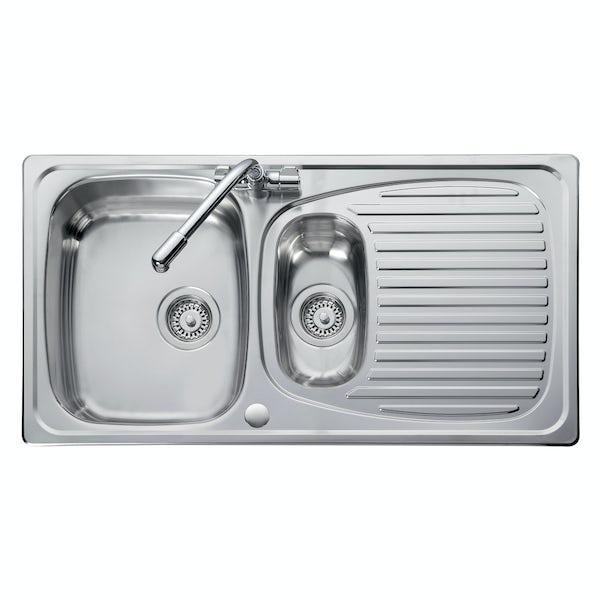 Leisure Euroline 1.5 bowl reversible kitchen sink | VictoriaPlum.com