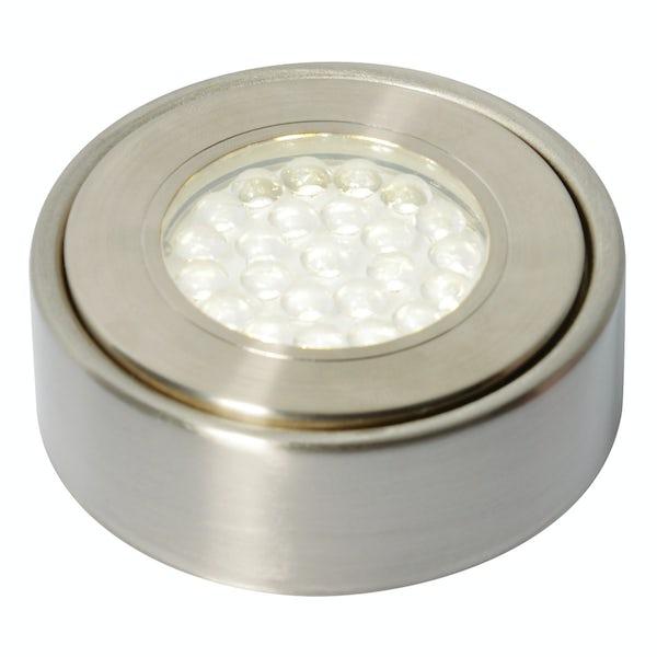 Forum Uri 1.5w cool white LED satin nickel under cabinet light