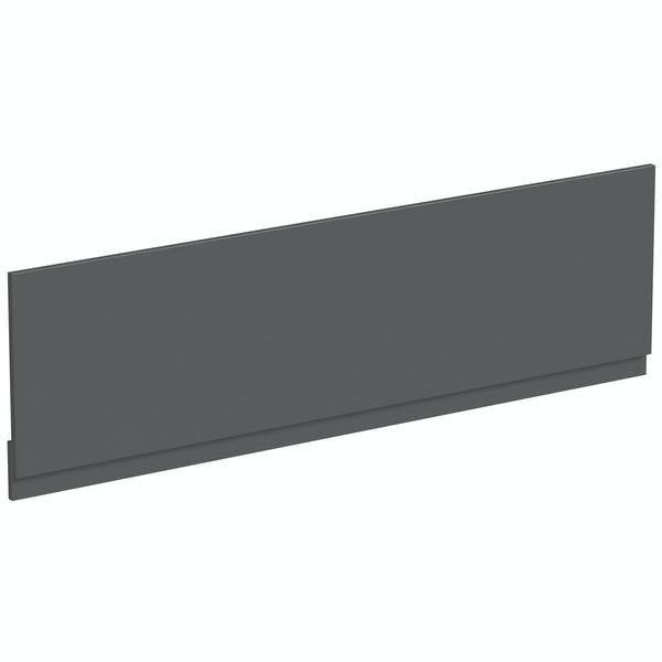 Mode Nouvel gloss grey bath front panel 1700mm