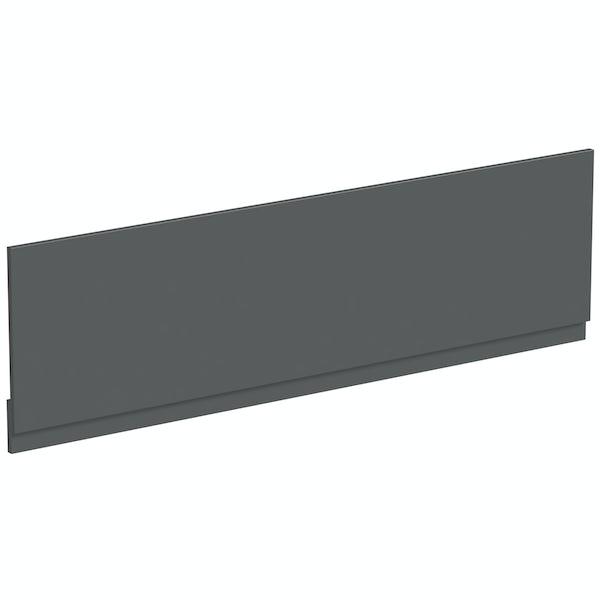 Mode Nouvel gloss grey bath front panel 1700mm