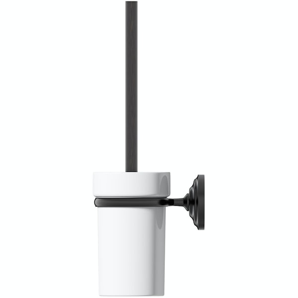 The Bath Co. 1805 black toilet brush and holder