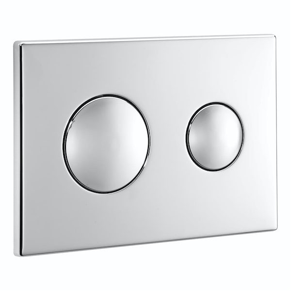 Ideal Standard contemporary chrome flush plate