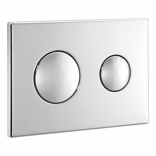 Ideal Standard contemporary chrome flush plate