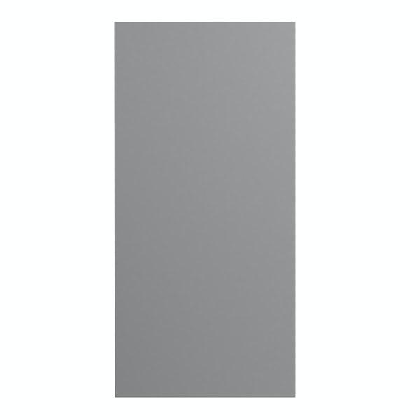 Slimline slate matt wall hung cabinet 650 x 300mm