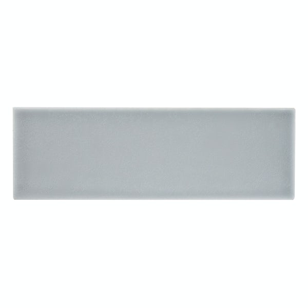 Clermont soft grey flat matt wall tile 100mm x 300mm