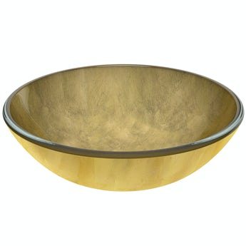 Mode Mackintosh gold foil glass countertop basin
