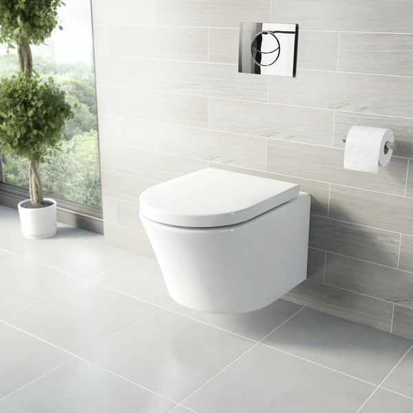 Tate Wall Hung Toilet inc Seat