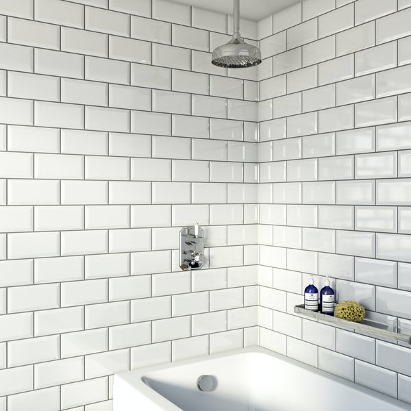 The Bath Co. Camberley concealed thermostatic mixer shower with ceiling arm and bath filler