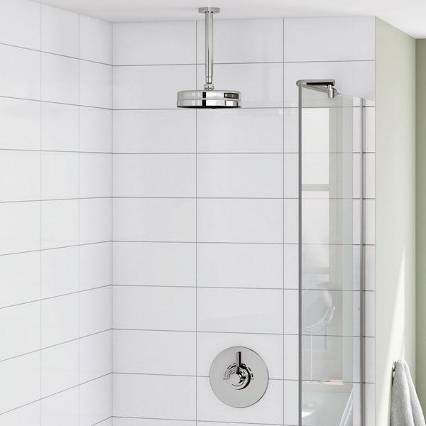 Harrison Concealed Thermostatic Valve & Ceiling Shower Set