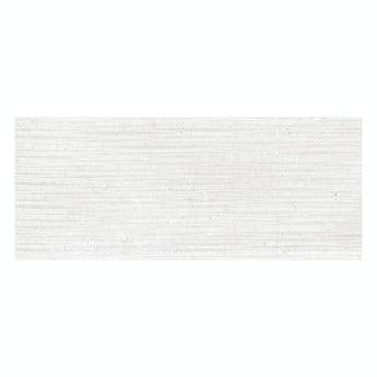 Orchard Rocha white textured stone effect gloss wall tile 250mm x 600mm
