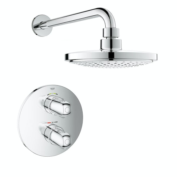 Storslået Grohe Grohtherm 1000 concealed thermostatic shower set with wall GU86