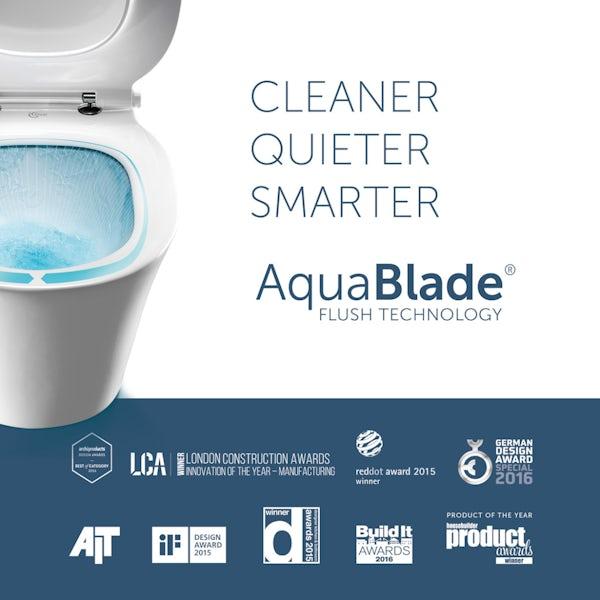 Ideal Standard Concept Air Arc toilet and semi pedestal suite 400mm