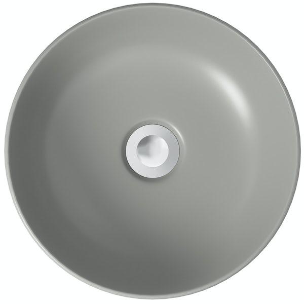 Mode Orion grey coloured countertop basin 355mm