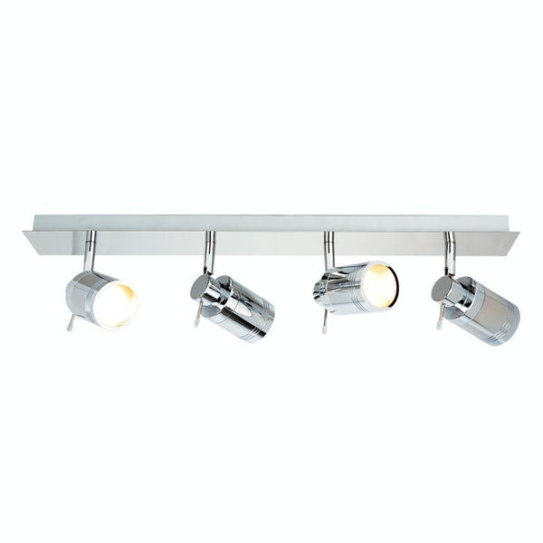 Forum Scorpius 4 light bathroom bar ceiling light
