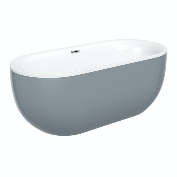 Mode Ellis storm bathroom suite with freestanding bath