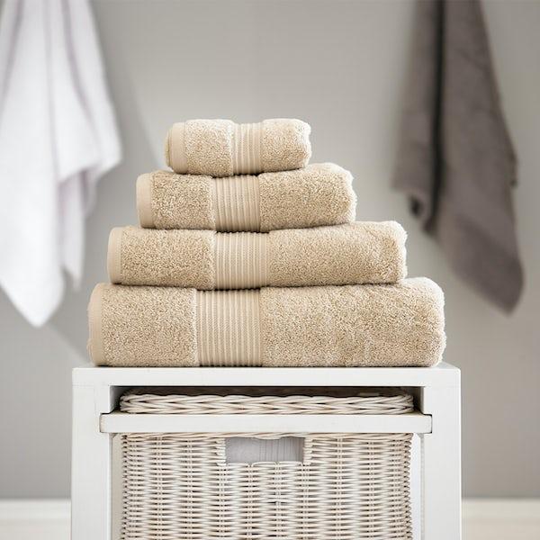 Deyongs Bliss antibacterial 650gsm 6 piece towel bale biscuit