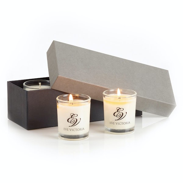 Eve Victoria Black poppy 3 Votive gift box 9cl